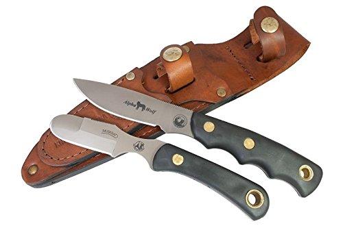 Knives of Alaska Alpha Wolf D2/Muskrat Combo SureGrip