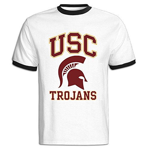 Men's University Of Southern California USC Trojans Baseball Tee Shirt Black (Usc Trojans Tee)