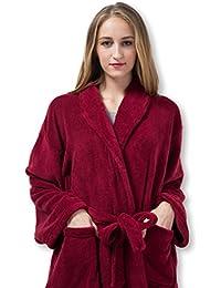 Ladies Robe - Plush Fleece – Kimono Wrap – Spa Bathrobe Women, Girls