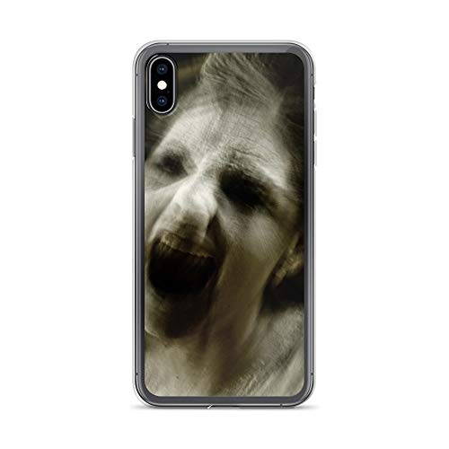 iPhone Xs Max Case Anti-Scratch Motion Picture Transparent Cases Cover Scary Gost Madness Movies Video Film Crystal Clear]()