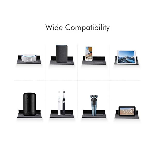 Amazon Brand - Umi Mensola Muro Mensole Porta Mensola Galleggiante Supporto per Telefon Bluetooth 20cm Organizzatore 2 Pezzi Nero Opaco, BSC410S20-BK-P2 7 spesavip