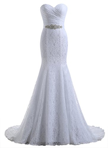 Beautyprom Womens Lace Mermaid Bridal Wedding Dresses