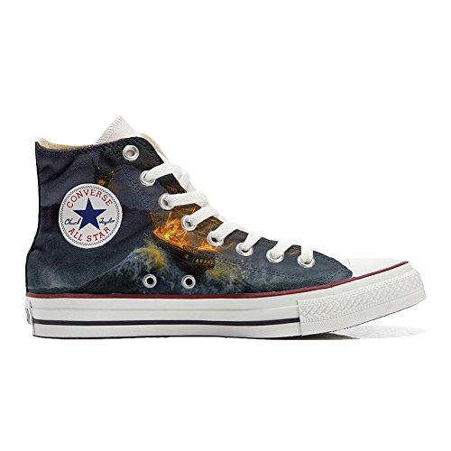 mys Converse All Star Hi Personnalisé et Imprimés Chaussures Coutume, Sneaker Unisex (Produit Italien Handmade) Videogame