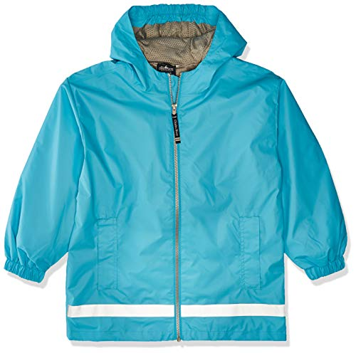 Charles River Apparel Kids' Big New Englander Rain Jacket, Wave/Reflective, XL