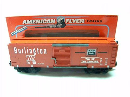 Burlington Boxcar - American Flyer 48478 1992 NASG Convention Burlington Route Box Car S Gauge