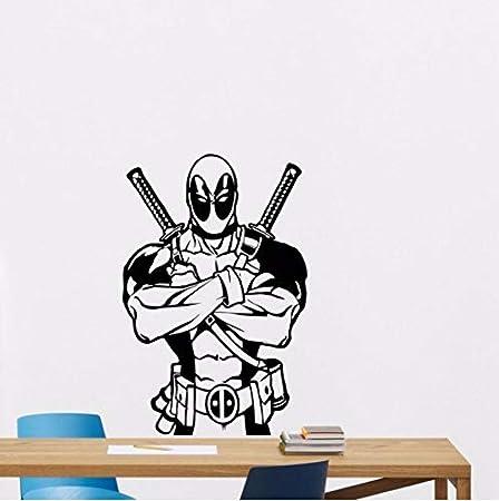 Pawang Deadpool Sticker Superhero Vinyle Autocollant Decor A La