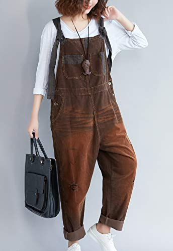 cca307e4eba0 Jumpsuits, Rompers & Overalls Clothing, Shoes & Jewelry Flygo Womens Casual Loose  Baggy Corduroy Bib Overalls ...