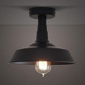 semi flush mount ceiling lights. BAYCHEER HL371812 Industrial Wrought Iron Warehouse Semi-Flush Mount Ceiling Light - Lighting With Semi Flush Lights