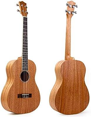 Kmise Baritone - Ukelele de madera de caoba, ukelele y ukelele de ...