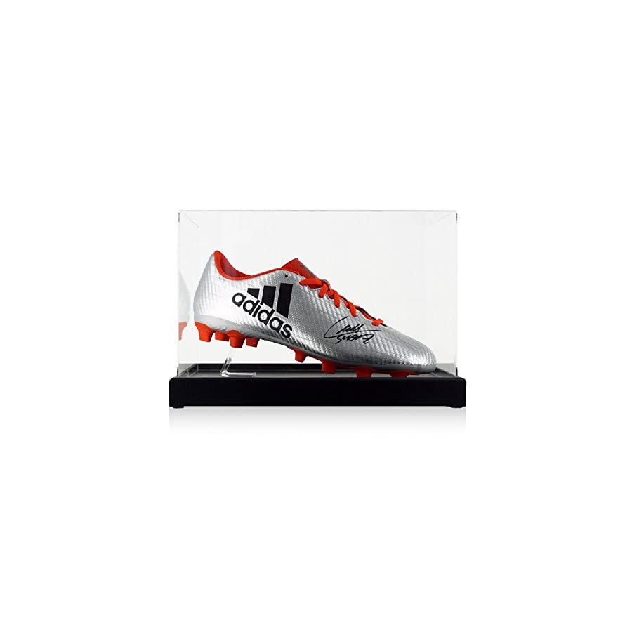 Luis Suarez Signed Soccer Shoe In Display Case | Autographed Cleat