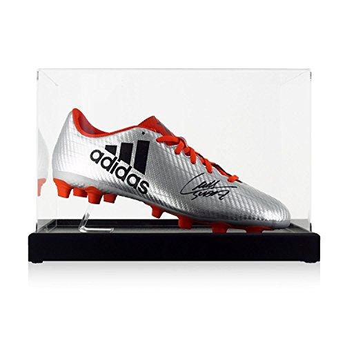 Luis Suarez Signed Soccer Shoe In Display Case  28f3e208e