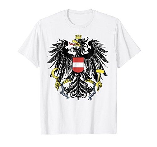 Mens Austria coat of arms T-shirt Tee Tees T Shirt Tshirt Large (Austria Coat Of Arms)