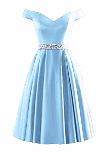 light blue short dress - 8