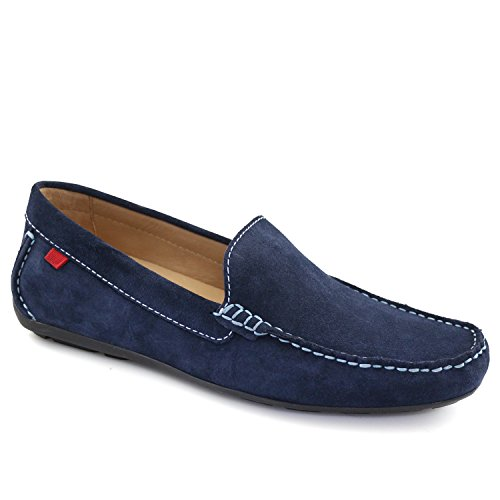 Marc Joseph NY Men's Fashion Shoes Broadway Navy Suede Venetian Loafer Size 7 (More Size/Colors -