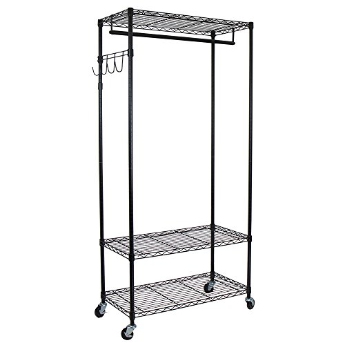 garment rack with shelf - 6