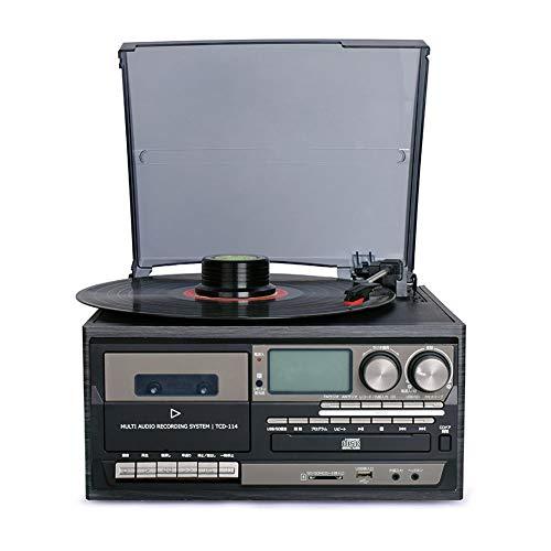 SCKL Reproductor de Discos de Vinilo Bluetooth Reproductor de CD y ...