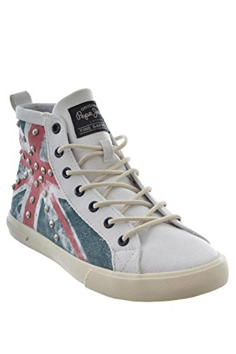 baskets mode pepe jeans barr296 - barry blanc