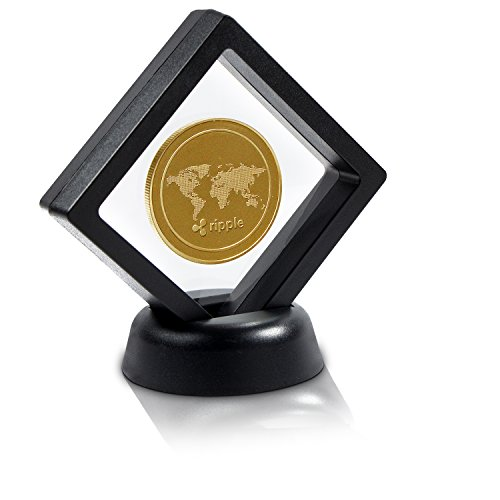 Box Ripple (Commemorative Ripple Coin Set with Display Case and Box | Cryptocurrency is an Ideal for Home Decor | Physical Bitcoin XRP Deluxe Coins are Good Present Ideas for HODL Fans / Crypto Tokens Collector)