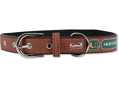 Miami Hurricanes Official NCAA Large Pet Dog Collar by Gamewear