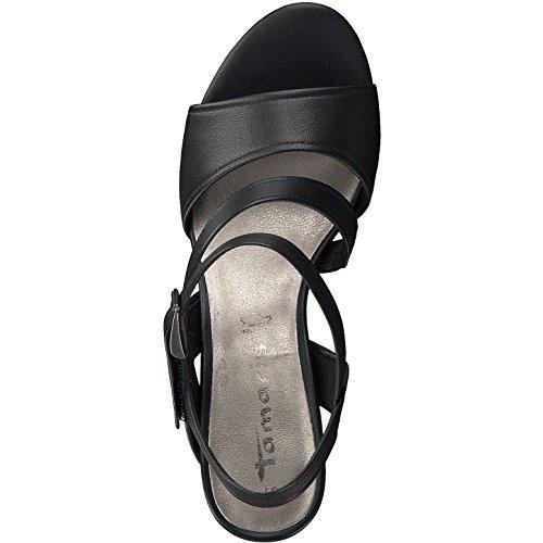 1 28606 vestir Tamaris 38 mujer Sandalias 001 Negro 1 para de xw4R4qB