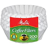 Melitta 62914 Paper White 4-6 Cup Jr. Basket Coffee Filters- 600 Count