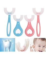 3 stks All Rounded Children U-Shape Tandenborstel, Kids U-vormige tandenborstel voor kinderen 6-12 jaar, 360 ° orale tandreiniging tandenborstel voor kinderen, handmatige tandenborstel mondelinge reinigingsgereedschappen