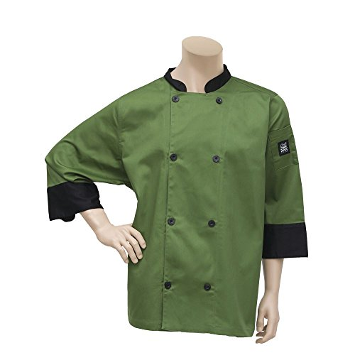 Chef Revival Mint Green Chef Jacket Poly Cotton Crew Fresh - 3XL (Chef Clothing Revival)