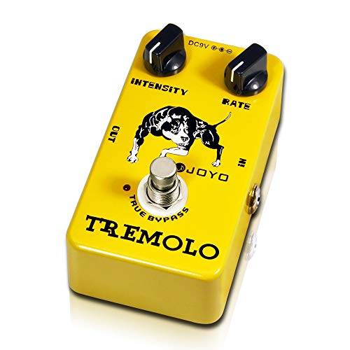 JOYO JF-09 Tremolo Guitar Pedals Guitar Effect Pedal Single Effect with True Bypass (Bass Guitar Tremolo)