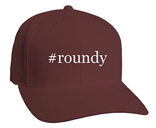 roundy-hashtag-adult-baseball-hat-maroon-large-x-large