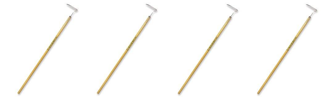 Nisaku NJP1010 4.5'' Blade Nejiri Stainless Steel Long Handle Hoe (4-Pack)