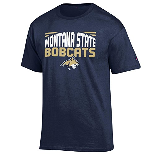 NCAA Champion Men's Push Ahead Short sleeve T-Shirt Montana State Bobcats Large
