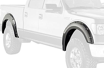 Bushwacker 20929-22 White Platinum Pocket Style Fender Flare for Ford, (Set  of