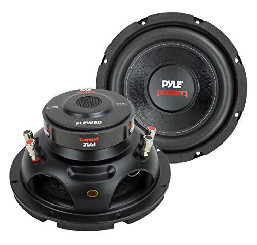 2) PYLE PLPW8D 8″ 1600W Dual Voice Coil 4-Ohm Car Audio Subwoofers Speakers