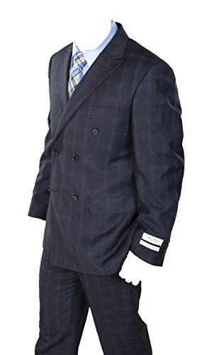 Windowpane Plaid Suit - 3