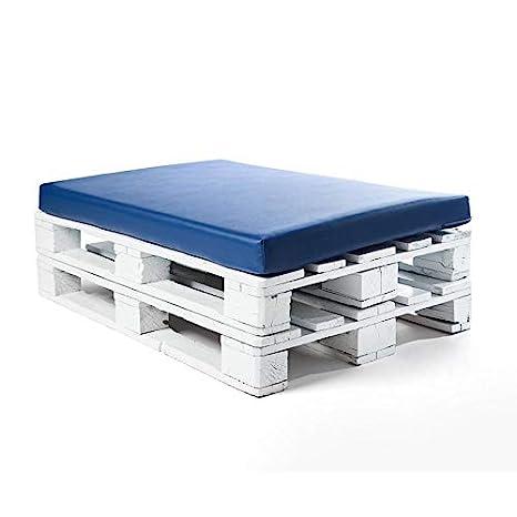 SUENOSZZZ - Asiento cojin para palets (1 x Unidad) Cojin Relleno con Espuma. Color Azul | Cojines para Chill out, Interior y Exterior, Jardin | No ...