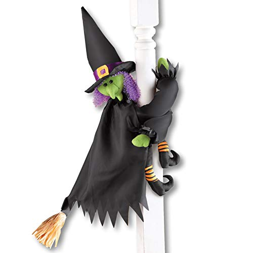 Cute Poseable Halloween Porch Decorations, Witch