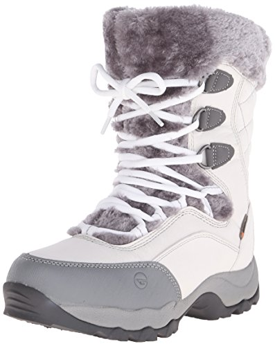 Hi-Tec® - Botas de Nieve Impermeables para Mujer St Moritz Lite 200 I, Blanco/Gris, 9 M US