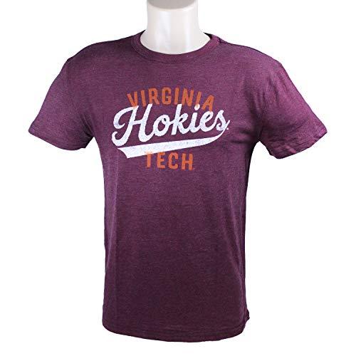 Top of the World Virginia Tech Hokies Official NCAA Maroon Large Heritage Colored Tribelend Tee Shirt 220562