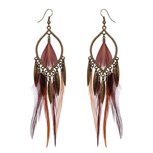 Elakaka Clothes Shape Multi-piece Feather-shaped long Earrings