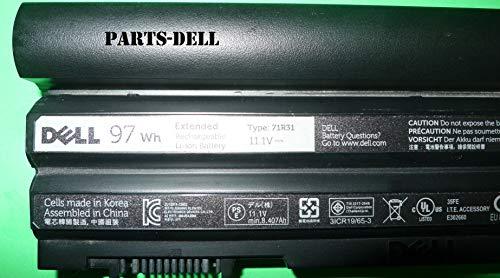 9-Cell 97Whr Battery for Latitude E5420, E5430, E5520, E5530, E6420, E6420 XFR, E6430, E6430 ATG, E6520, E6530 Part Number: 312-1325 Type: 71R31 (Dell 6440 I7)