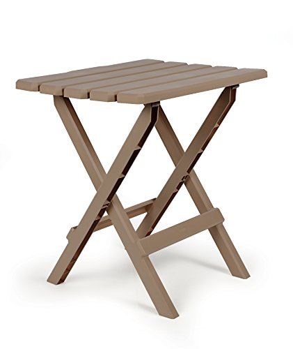 Cheap  Camco 51887 Taupe Large Adirondack Portable Outdoor Folding Side Table, Perfect the..
