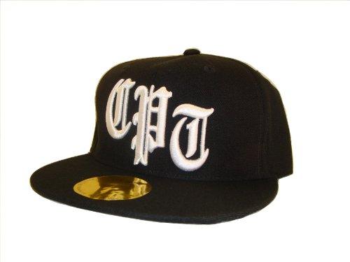 Academy Fits Compton Snapback Flat Bill Baseball Cap (One Size, Black / White)