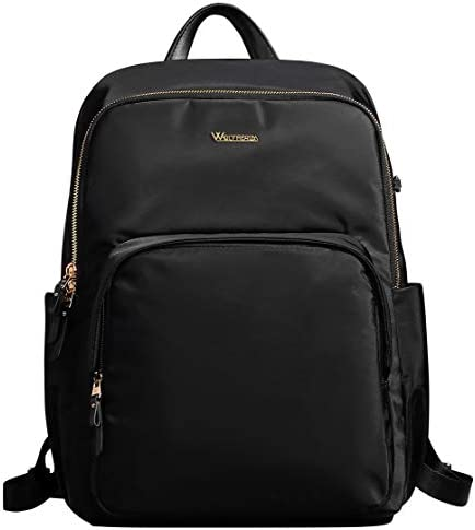 Wolfrealm Business Backpack Laptop Backpack Purse for Women Lightweight Waterproof Nylon School Bag fit 14 inches,Black