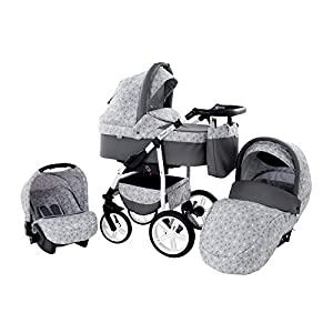 Baby Pram Zeo Wind 3in1 Set – All You Need! carrycot Gondola Buggy Sport Part Pushchair car seat (53)
