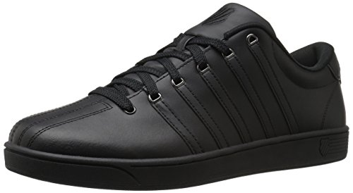 K-Swiss Men's Court PRO II Fashion Sneaker, Black/Gunmetal, 13 M US