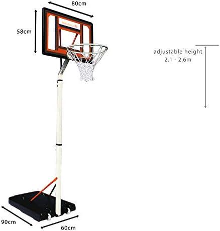 Bee-Ball BB-04 - Canasta de baloncesto para niños (1,65 x 2,6 m ...