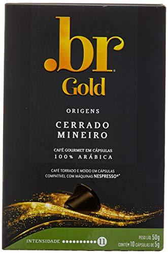 Café em Cápsulas Cerrado Mineiro Int 11 .Br Gold, Compatível com Nespresso, Contém 10 Cápsulas