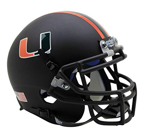 Schutt NCAA Miami Hurricanes Mini Authentic XP Football Helmet, ALT 7