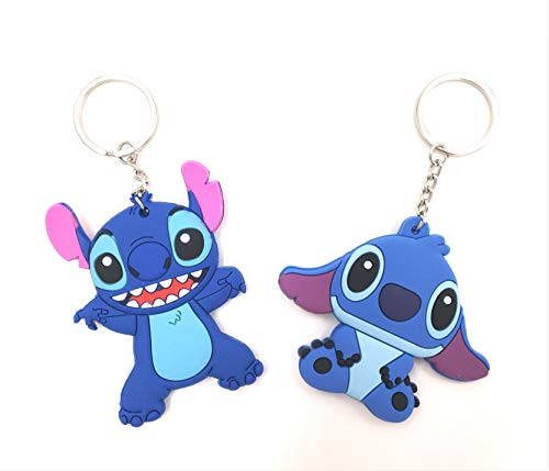(CellDesigns Japanese and US Anime Character Souvenir Collection (Set of 2 Stitch-Keychain))
