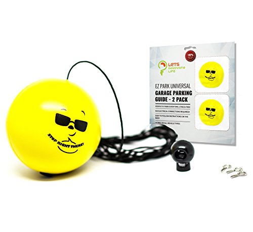 Double Garage Parking Aid - Ball Guide System. Our simple to install adjustable parking assistant kit includes a retracting ball sensor assist solution.A perfect garage car stop indicator for vehicles
